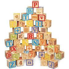 maxim stacking blocks deluxe wooden abc blocks extra large engraved baby set