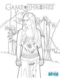 Game Of Thrones Princess Daenerys Targaryen Coloring Pages