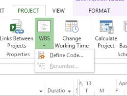 Wbs Chart In Ms Project 2013 Using Work Breakdown Structure Wbs Codes In Microsoft