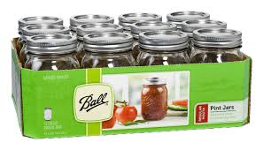 Mason Jars Amazoncom Ball Wide Mouth Half Gallon 64 Oz Jars With Lids And