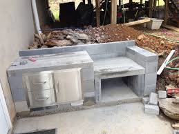 Inspiration How To Build An Outdoor Kitchen With Cinder Blocks On