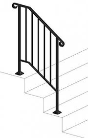 Decorative railing outdoor metal stair railing cast iron railings for sale. Outdoor Metal Stair Railing Kits You Ll Love In 2021 Visualhunt