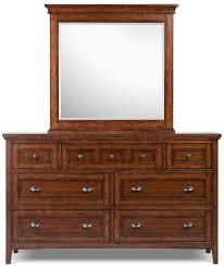 Magnussen Harrison Bedroom Furniture Double Dresser With 7 Drawers And Drop Down Front On Top Center By
