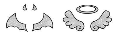 天使悪魔の羽 無料イラスト素材素材ラボ