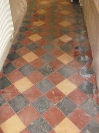 victorian quarry tiled floor restoration suffolk tile doctor victorian floor before cleaning