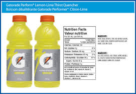 gatorade perform lemon lime thirst quencher