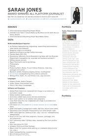freelance online & print journalist Resume example