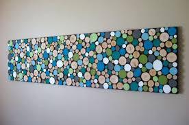 View in gallery Wood slice wall art DIY