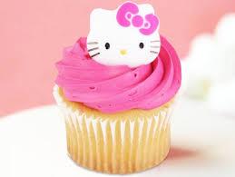 Strawberry Kitty Cupcake 6 Pcs Cutelicious Strawberry Cupcake