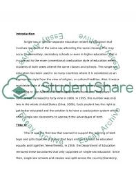 single sex education research paper example topics and well single sex education essay example