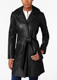 leather belted trench coat jones new york