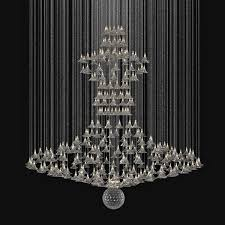 custom made chandelier 3d model max obj 3ds fbx mtl unitypackage 1