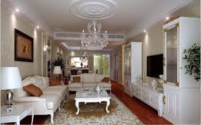 posh drawing room interior with chandelier 3d model max 1