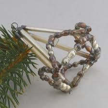 Alter Gablonzer Christbaumschmuck Leuchter Silber Antik