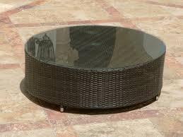 source outdoor circa round wicker coffee table buy source outdoor circa