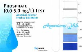 Phosphate Colour Chart Aquariums R Us Test Kits