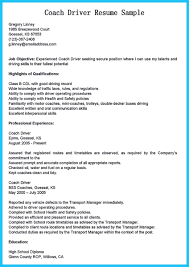 Stunning Bus Driver Resume To Gain The Serious Bus Driver Job Bunch