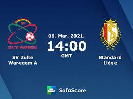 SV Zulte Waregem A Standard Liège live score, video stream and H2H results  - SofaScore
