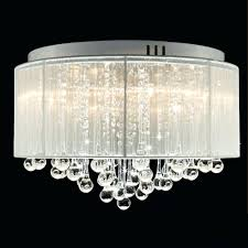 contemporary crystal drum chandelier crystal chandelier with cream drum shade mameifree flush mounted luxury contemporary drum ceiling chandelier