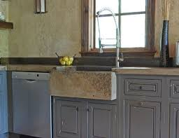 Concrete Sink Bathroom Classic Stainless Steel Gas Stove Brown Concrete Sink Kitchen