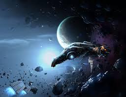 Repairs in asteroid field (Repairng space ship), Voxmortem, AbikK ...