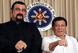 الفلبين - الممثل ستيفن سيجال يلتقي الرئيس دوتيرتي