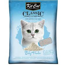 image cat litter. kit cat classic clump baby powder litter 10l image