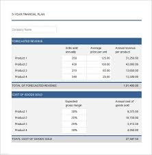 Financial Template For Excel Business Financial Plan Template Excel Financial Plan Templates 10