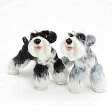 schnauzer dog lover salt pepper shaker gift collectibles art decor b01