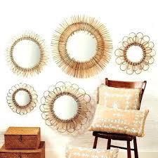 large wall mirror ikea rattan mirror wall mirrors circle mirrors wall art large round wall mirror
