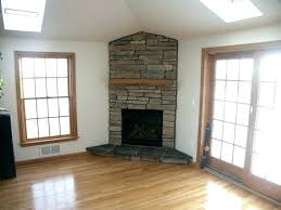 corner stone electric fireplace stacked