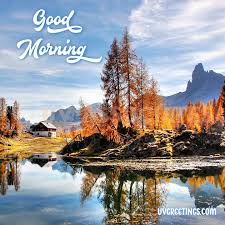 good morning wish with scenery that transport peace and tranquility