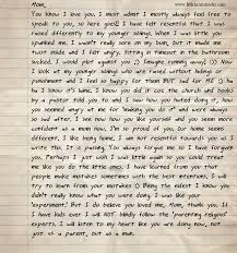 Letter from father to defiant teen
