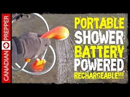 portable battery powered shower rechargeable canadian prepper