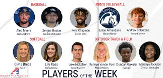 Heart of America Athletic Conference - Heart Players of the Week (March 18)