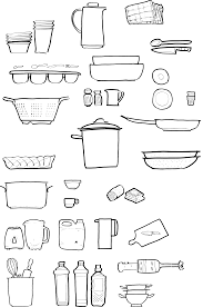 Clipart Kitchen utensils Same drawings but smaller Downloading