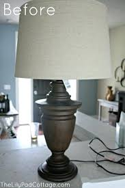 paint a lamp chalk painted lamp makeover lampshade paint uk