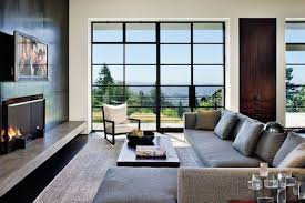 tv fireplace. olson kundig architects\u0027 mod hilltop design in portland, oregon got the tv -over-fireplace treatment roger wade tv fireplace