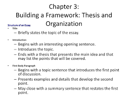 What Is Thesis In Essay Ppt Chapter 3 Building A Framework Thesis And