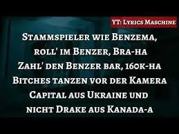 Capital Bra Benzema Lyrics Youtube