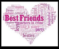 Best Friend Christmas Gift Heart Word Art Print Birthday Thank You