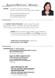 Sample Of Formal Resume