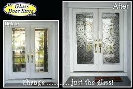 double front doors with glass alluring wooden