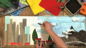 Art and Design KS1 / KS2: Creating a <b>collage landscape</b> - BBC Teach