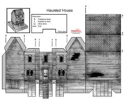 Foldable House Template Haunted House Cut Out Free Printable 3d Paper Model Template