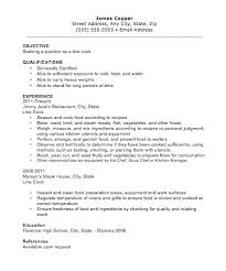 Cook Resumes Interesting Basic Resume Cook Template Kor48mnet