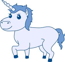 Resultado de imagem para blue unicorn