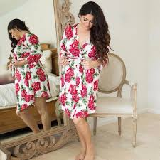 Posh Peanut Size Chart Posh Peanut Mommy Robe Dolce Red Rose Lagoon Baby Bamboo Ladies Robes Canada