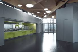 natural lighting solutions. Lighting Dormers Oriented To The North-East And North-West As Well Transparent North Facade Provide Excellent Natural For Cafeteria. Solutions