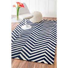5 x 8 hand hooked chevron area rug navy blue rug